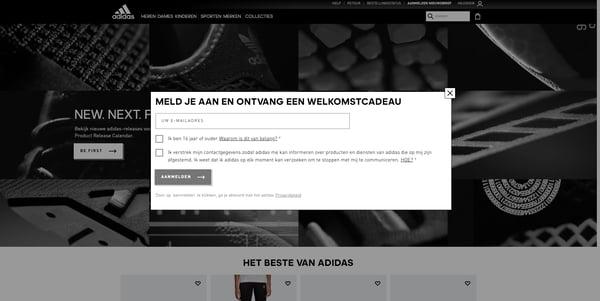zes-verleidingstechnieken-Adidas-welkomstcadeau