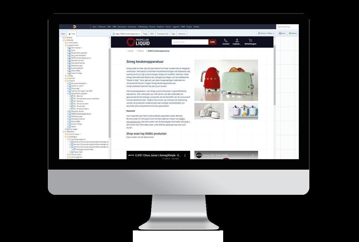 b2b e-commerce persoonlijke landing page maken in Propellor