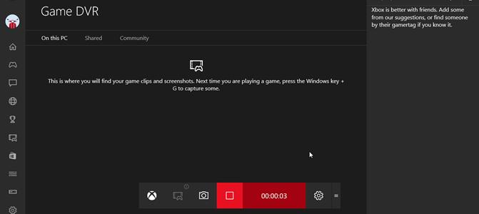 Windows 10 screenrecorder